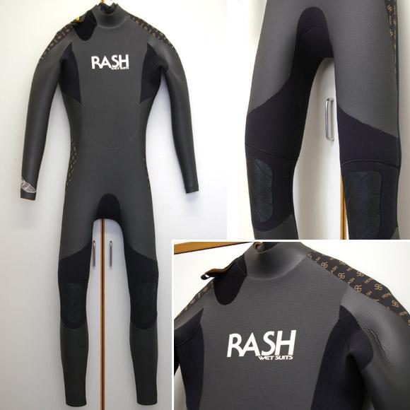 RUSH 5/3mm セミドライ 中古ウェットスーツ bno9629581a
