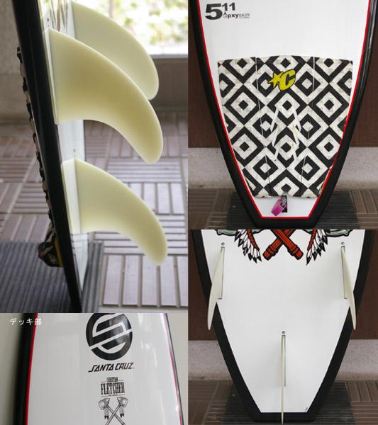 Santa Cruz FLETCHER EPOXY  中古ショートボード fin/tail bno9629593c