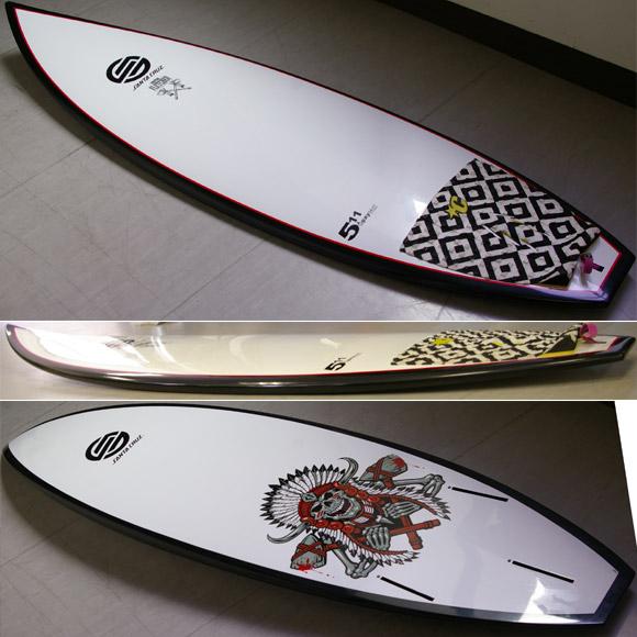 Santa Cruz FLETCHER EPOXY  中古ショートボード detail bno9629593d