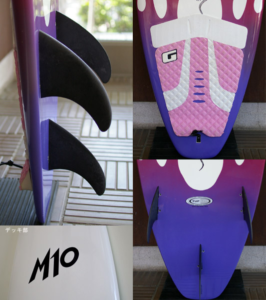 M10 RATBOY SURFTECH 中古ショートボード 6`1 fin/tail bno9629613c