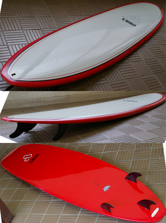 ALMERRICK Water Hog SURFTECH 中古ファンボード 7`7 detail bno9629614e