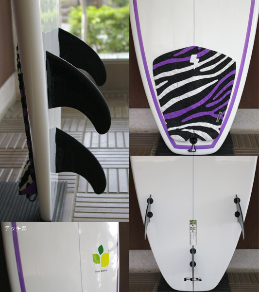 THREE WEATHER PERFORMER 中古ショートボード 6`6 fin/tail bno9629619c