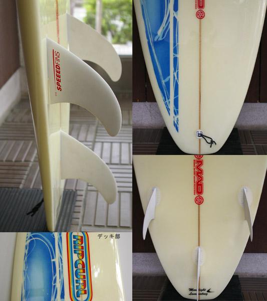 RIPCURL MAD 中古ファンボード 7`4 fin/tail bno9629623c