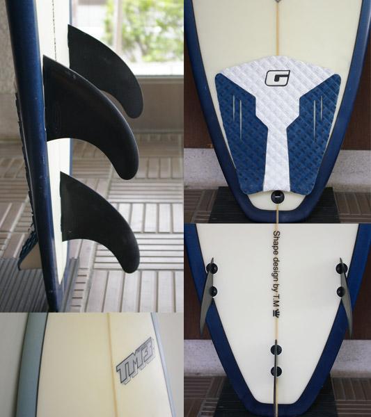 TM3 中古ショートボード 6`4 fin/tail bno9629630c