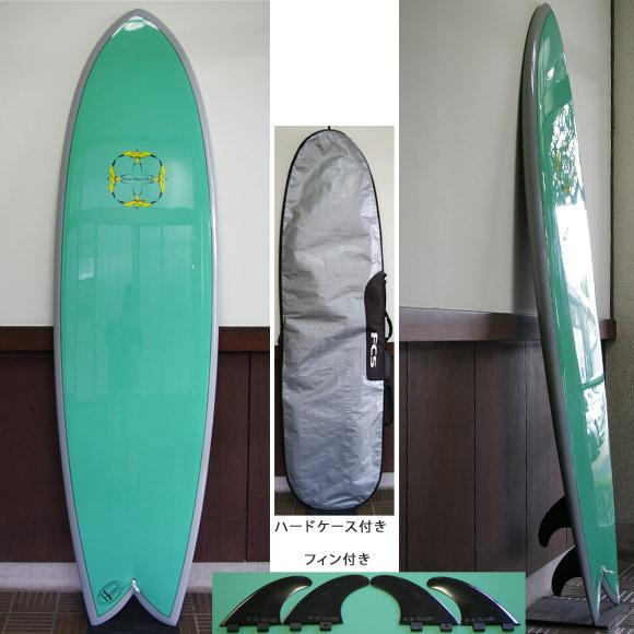 DONALD TAKAYAMA Humu Humu Fish EPOXY 中古フィッシュボード 6`8 deck bno9629635a