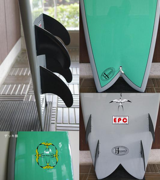 DONALD TAKAYAMA Humu Humu Fish EPOXY 中古フィッシュボード 6`8 fin/tail bno9629635c