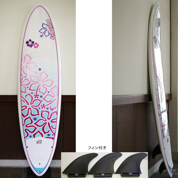 NSP surfbetty 中古ファンボード 6`8 EPOXY deck bno9629638a