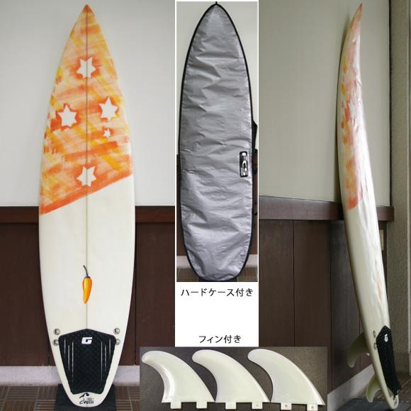 chilli 中古ショートボード 6`5 deck bno9629644a