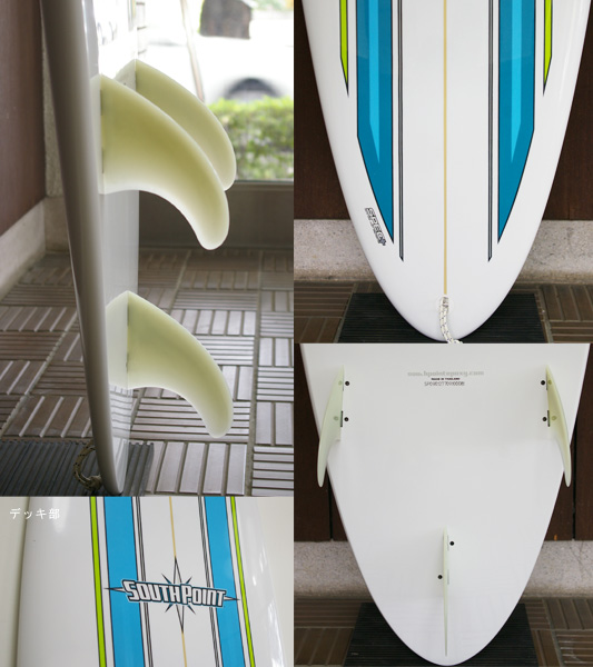 SOUTH POINT Dowing Mini-hune 中古ファンボード 7`7 fin/tail bno9629646c