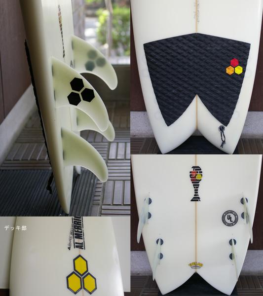 アルメリック FISHCUIT 中古ショートボード 5`6 fin/tail bno9629647c
