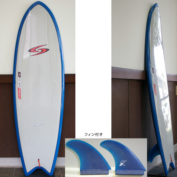 SURFTECH TWIN FIN TUFLITE 中古ショートボード deck bno9629651a