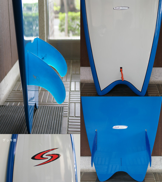 SURFTECH TWIN FIN TUFLITE 中古ショートボード fin/tail bno9629651c
