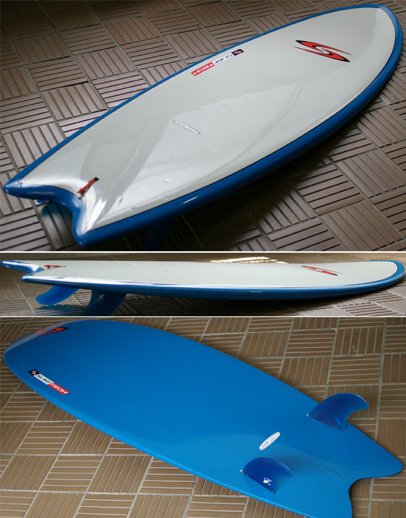 SURFTECH TWIN FIN TUFLITE 中古ショートボード condition bno9629651e