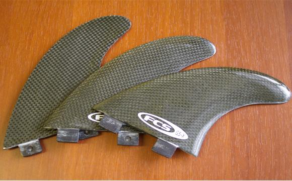 FCS G5-X 中古トライフィン カーボン condition bno9629674b