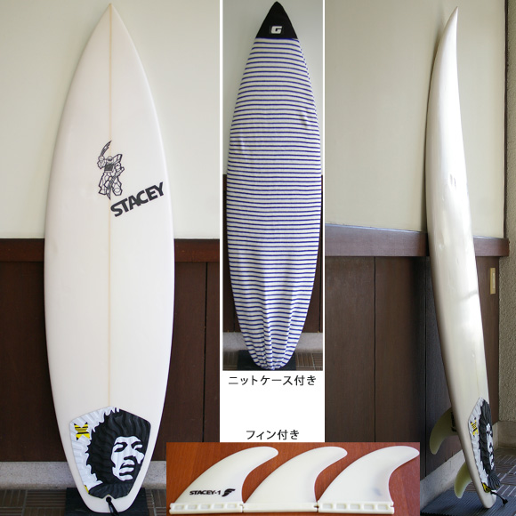 STACEY S4 中古ショートボード 5`11 deck bno9629685a