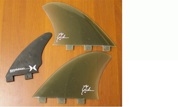 glide  中古ツインフィン+evolution EVO1.1 中古フィンセット bno9629697e