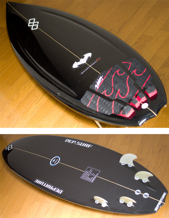 Departure Evolution BAD BOY 中古ショートボード 5`10 deck/bottom detail bno9629726b