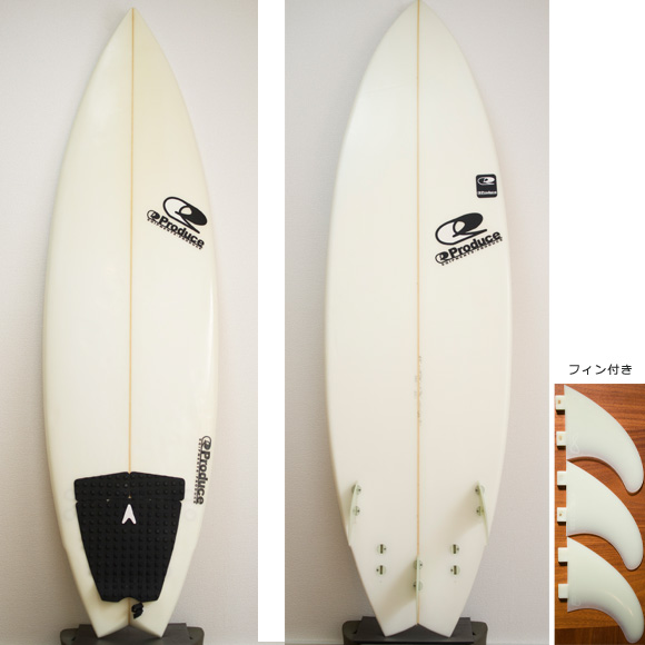 EQIPMENTS PRODUCE 5FIN 中古ショートボード 6`0 deck/bottom bno9629728a