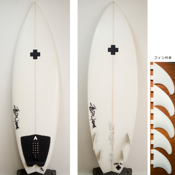 Surf Prescriptions NDR 5FIN 中古ショートボード 5`10 deck/bottom bno9629729a