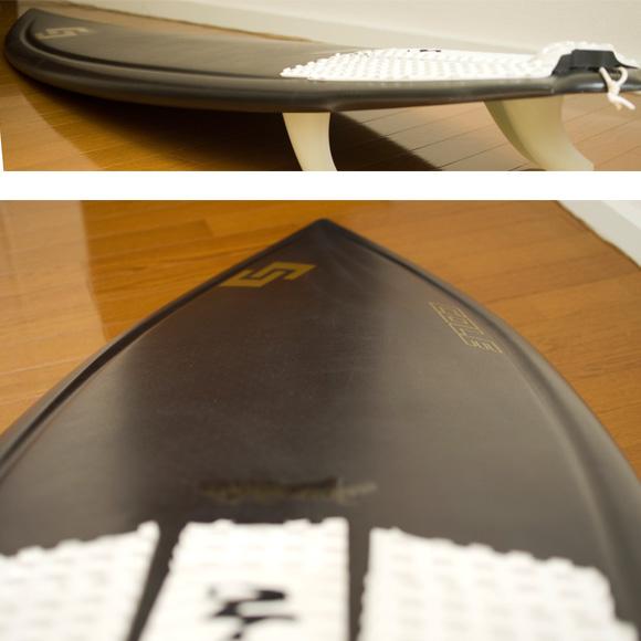 AVISO COLE GRASS HOPPER 中古ショートボード 5`9 GOLD LABEL deck-condition bno9629731c