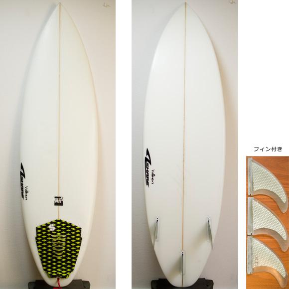 A-shape Valiken 中古ショートボード 6`1 deck/bottom bno9629732a
