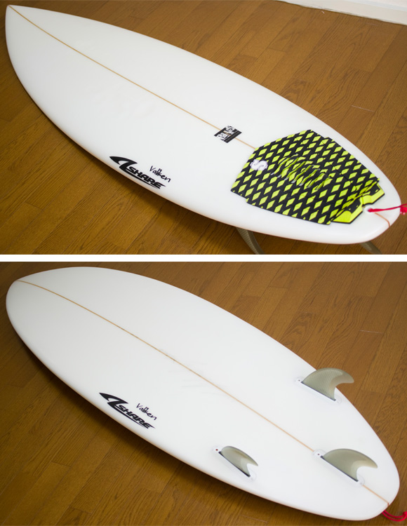 A-shape Valiken 中古ショートボード 6`1 deck/bottom-detail bno9629732b