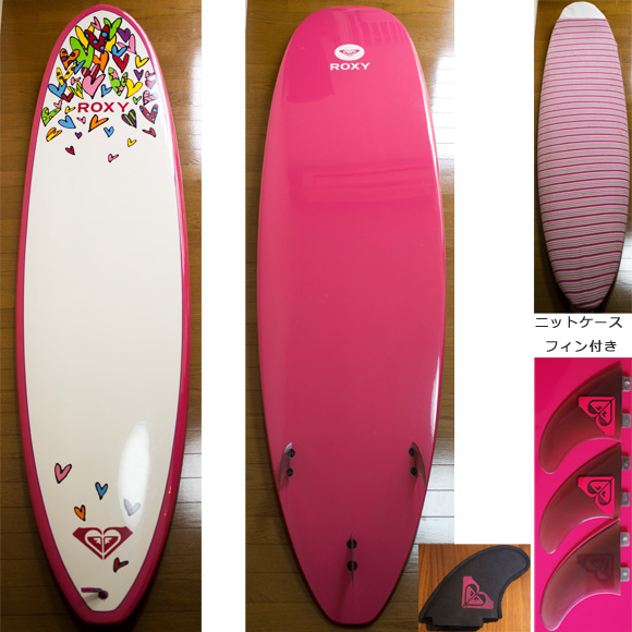 ROXY 中古ファンボード A LOT OF HEART 8`0 deck/bottom  bno9629742a