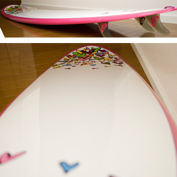 ROXY 中古ファンボード A LOT OF HEART EPOXY 8`0 deck condition bno9629742c