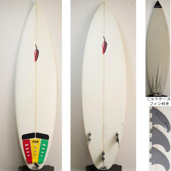 chilli  中古ショートボード 6`3 deck/bottom bno9629743a