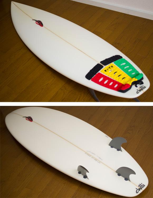 chilli  中古ショートボード 6`3 deck/bottom-detail bno9629743b
