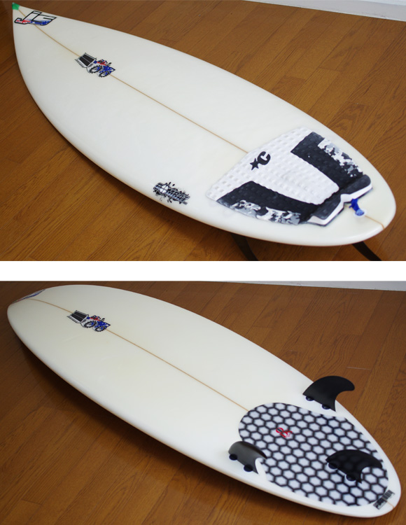 JS COMBAT 中古ショートボード 6`3 deck/bottom-detail  bno9629745b