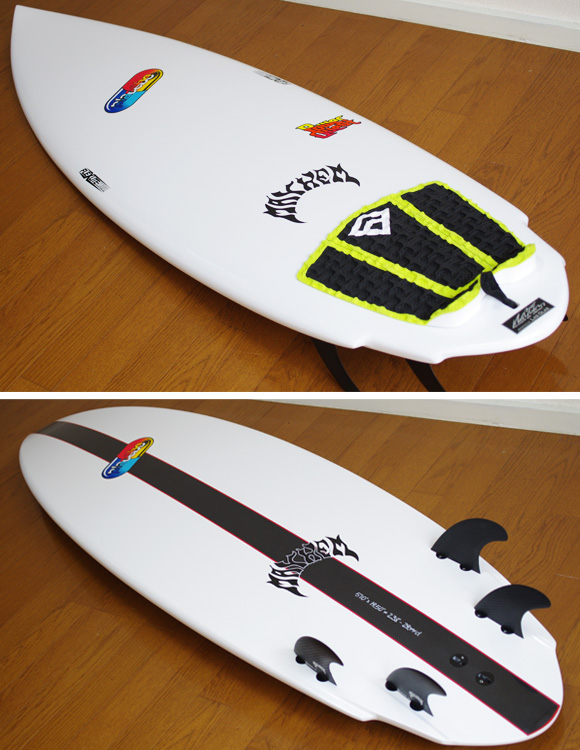 Placebo POWER QUEST 中古ショートボード 5`10 deck/bottom-detail bno9629746b