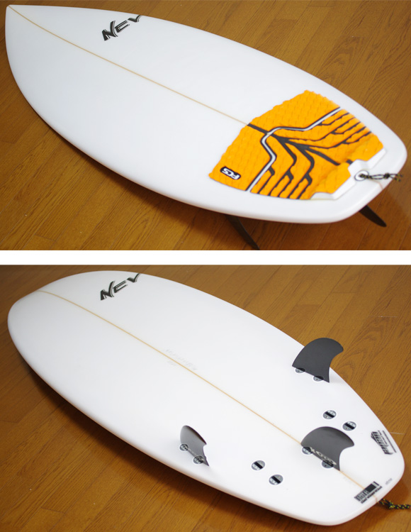 NEV JAPANモデル 中古ショートボード 5`9 deck/bottom-detail bno9629748b