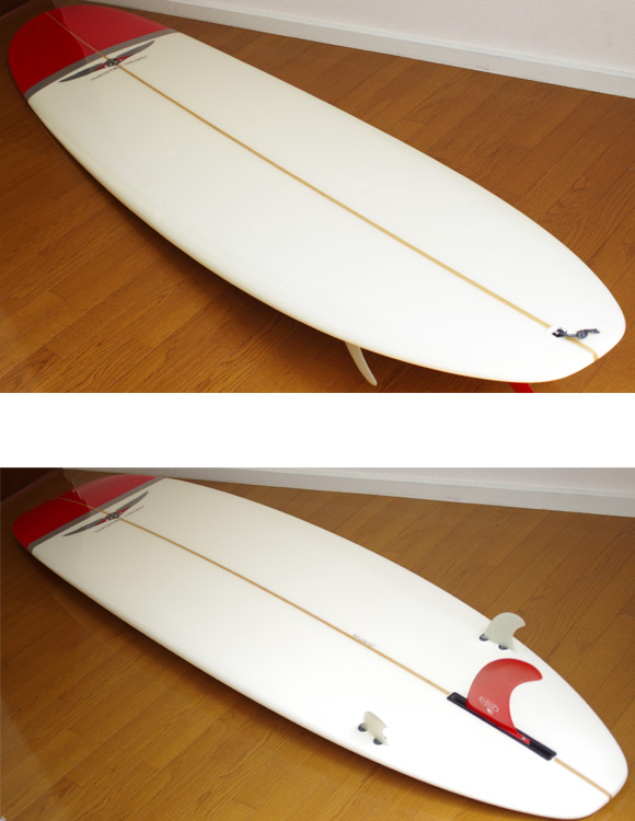 BEAR WATER UNIT 中古ロングボード 9`2 deck/bottom-detail bno9629750b