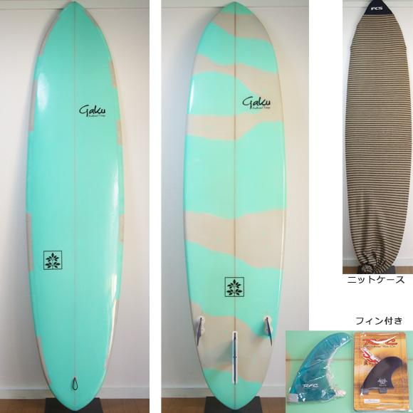 Gaku Surfboard 中古ファンボード 7`6 deck/bottom bno9629751a