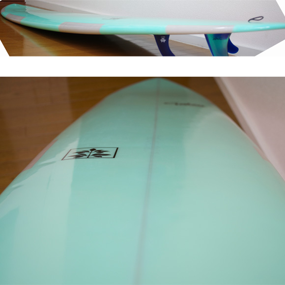Gaku Surfboard 中古ファンボード 7`6 deck-condition bno9629751c