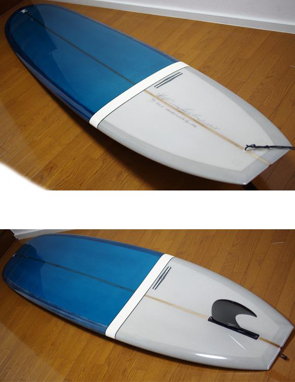 YU CLASSIC NOOSAⅡ 中古ロングボード 9`7 deck/bottom-detail bno9629768b