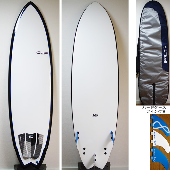 CARDIFF 中古ファンボード 6`9 EPOXY deck/bottom bno9629775a