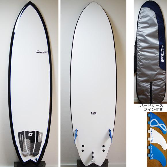 CARDIFF 中古ファンボード 6`9 EPOXY deck/bottom bno9629775a