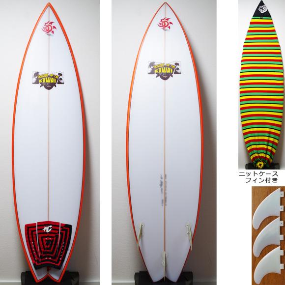 KAWAI Surfboards 中古ショートボード 6`2 deck/bottom bno9629780a