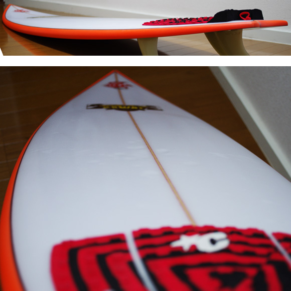 KAWAI Surfboards 中古ショートボード 6`2 deck-condition bno9629780c