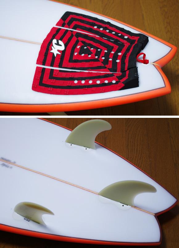 KAWAI Surfboards 中古ショートボード 6`2 fin/tail bno9629780d