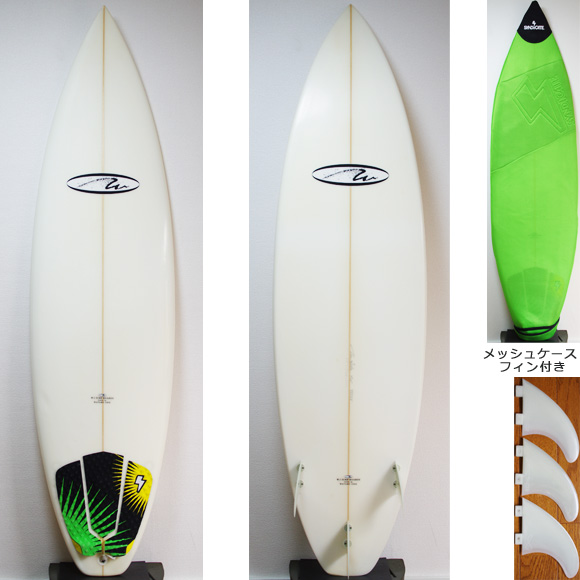 W.I SURFBOARDS 中古ショートボード 6`5 deck/bottom bno9629781a