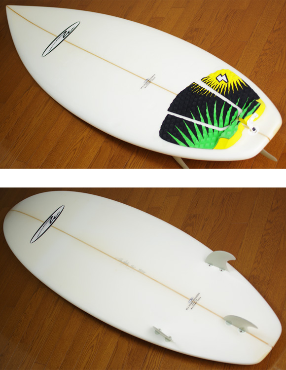 W.I SURFBOARDS 中古ショートボード 6`5 deck/bottom-detail bno9629781b