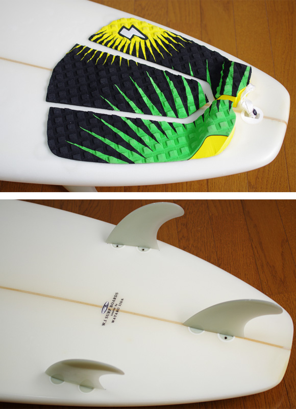 W.I SURFBOARDS 中古ショートボード 6`5 fin/tail bno9629781d