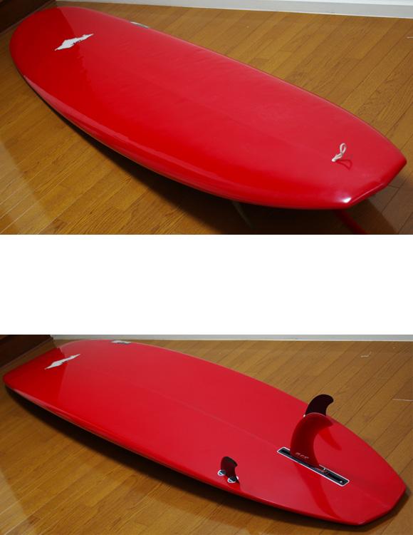 MITSU ミツ 中古ロングボード 9`6 deck/bottom-detail bno9629782b
