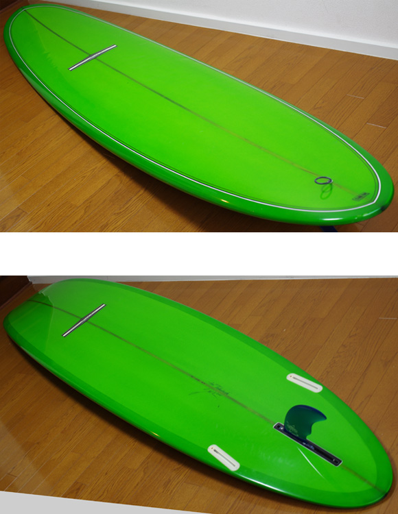 YU SURF CLASSIC 中古ロングボード 9`6 deck/bottom-detail  bno9629791b