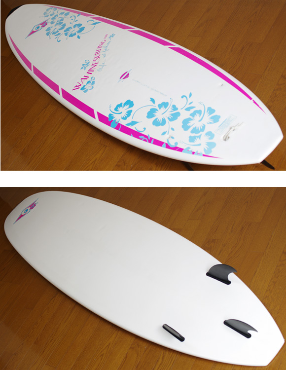 BIC SURF Mini Malibu 中古ファンボード 7`3 deck/bottom-detail bno9629792b