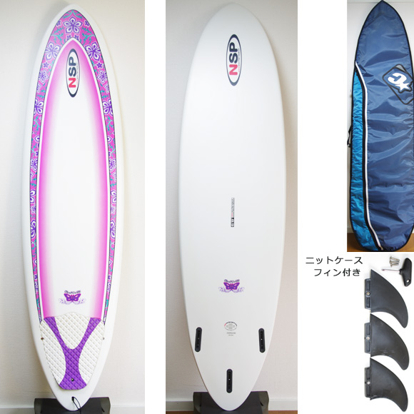 NSP Surfbetty 中古ファンボード6`8 deck/bottom bno9629808a