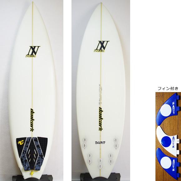 INSPIRE DART 中古ショートボード 5`9 deck/bottom bno9629815a